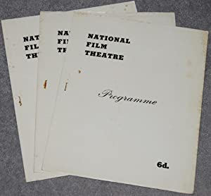 Three National Film Theatre Programmes for the series The First World War on Film