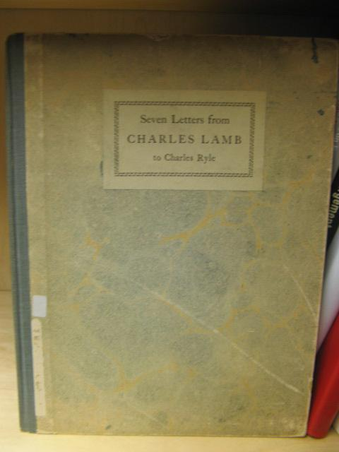 Seven Letters from Charles Lamb to Charles: Lamb, Charles