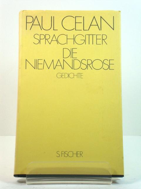 Sprachgitter Die Niemandsrose: Gedichte: Celan, Paul