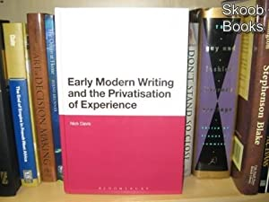 Early Modern Writing and the Privatisation of Experience: Davis, Nick
