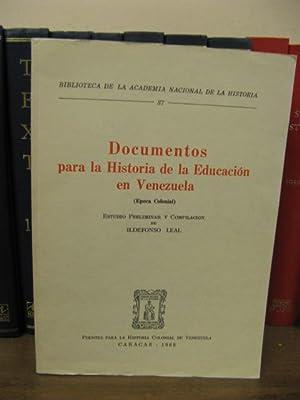 Documentos para la Historia de la Educacion: Leal, Ildefonso