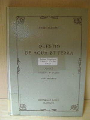 Questo De Aqua et Terra: Alighieri, Dante; Pescasio,