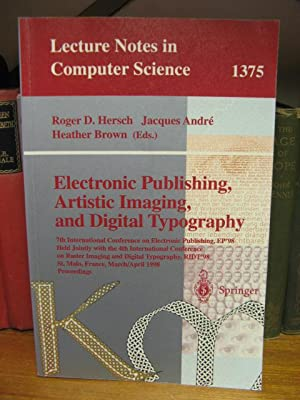 Electronic Publishing, Artistic Imaging, and Digital Typography (Lecture Notes in Computer Science ...