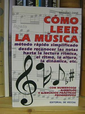 Como Leer La Musica: Zane, Massimo