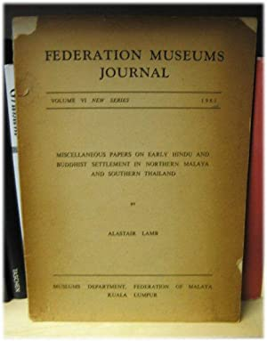 Federation Museums Journal (New Series) Volume VI: Lamb, Alastair; Sheppard,