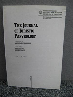 The Journal of Juristic Papyrology, Vol. XXXIII: Derda, Tomasz; Urbanik,