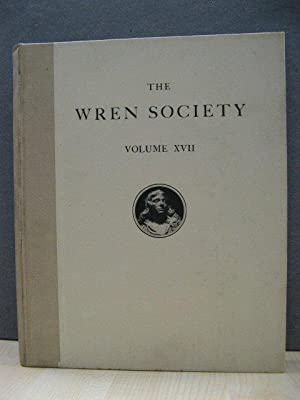 The Seventeenth Volume of the Wren Society 1940: Designs and Drawings Supplementary to Volume XII. ...