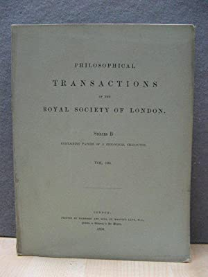 Philosophical Transactions of the Royal Society of London. Series B, Containing Papers of a Biolo...