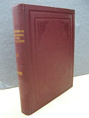 Philosophical Transactions of the Royal Society of London (B) 1892: Volume 183