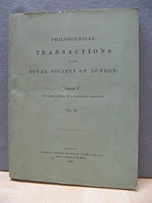Philosophical Transactions of the Royal Society of London. Series B: Containing Papers of a Biolo...