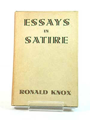 essays in satire by knox ronald abebooks essays in satire knox ronald