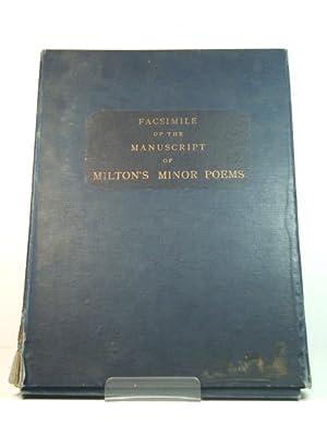 milton john - minor poems facsimile of the manuscript of