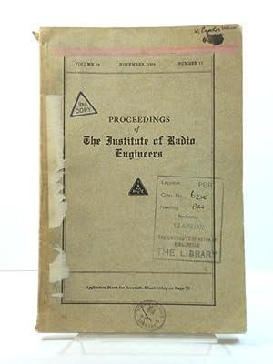 Proceedings of The Institute of Radio Engineers: Goldsmith, Alfred N.