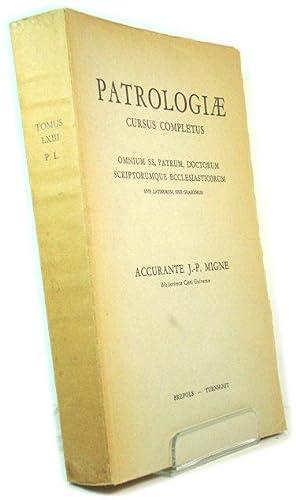 Patrologiae Latinae Tomus LXIII: Migne, J.-P. (ed.)