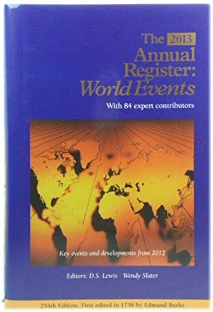 The Annual Register 2013: World Events: 254