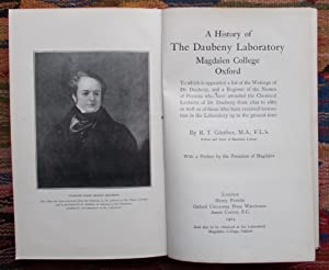 A History of The Daubeny Laboratory,Magdalen College etc.