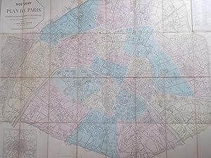 Nouveau Plan De Paris,Indiquant Les Arrondissements et: E.Andriveau-Goujon