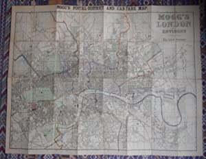 Mogg.s London and its Environs [Mogg.s Postal District and Cab Fare Map]