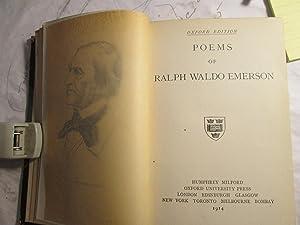 Poems of Ralph Waldo Emerson: Emerson, Ralph Waldo