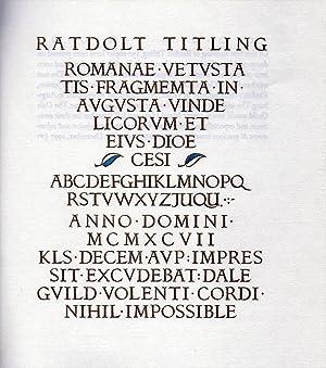 Ratdolt Titling. A Victor Hammer font comes: HAMMER, Victor.