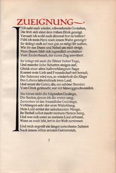Faust. Eine Tragà die von Goethe.: ERNST LUDWIG PRESSE.