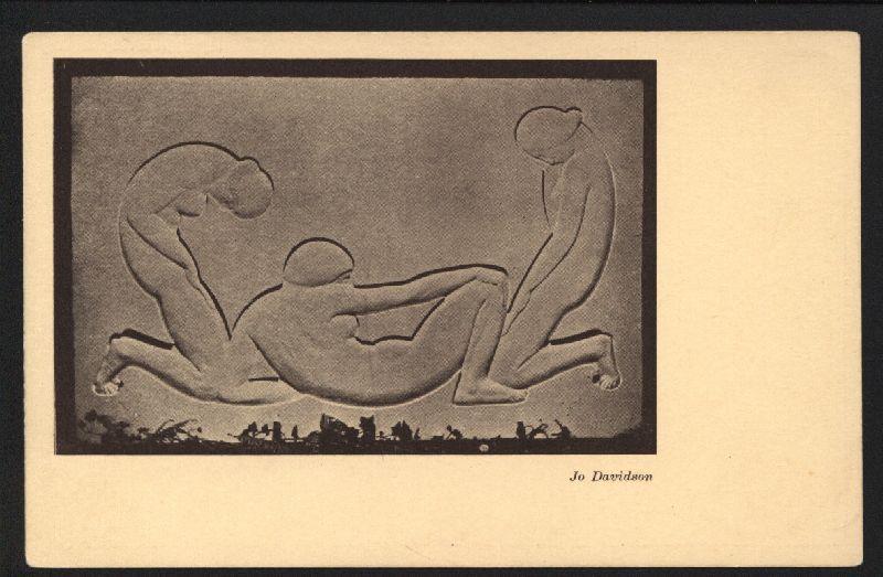 "ohne Titel"" [wohl ein Plattenrelief]. Original Postkarte: Armory Show 1913."