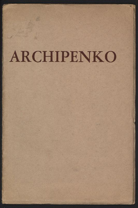Tour of exhibition of the Works of: Archipenko.