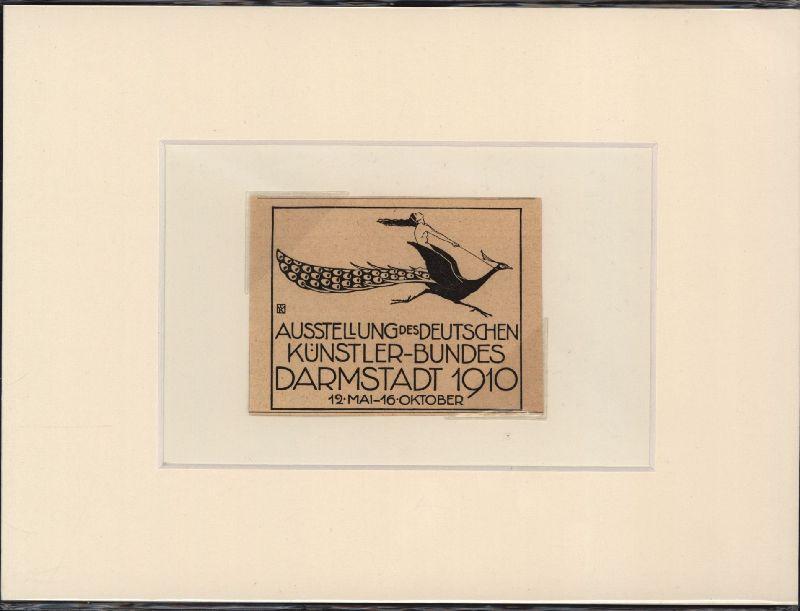 Ausstellung des Deutschen Künstler-Bundes Darmstadt 1910.: Ephemera. Anzeige.
