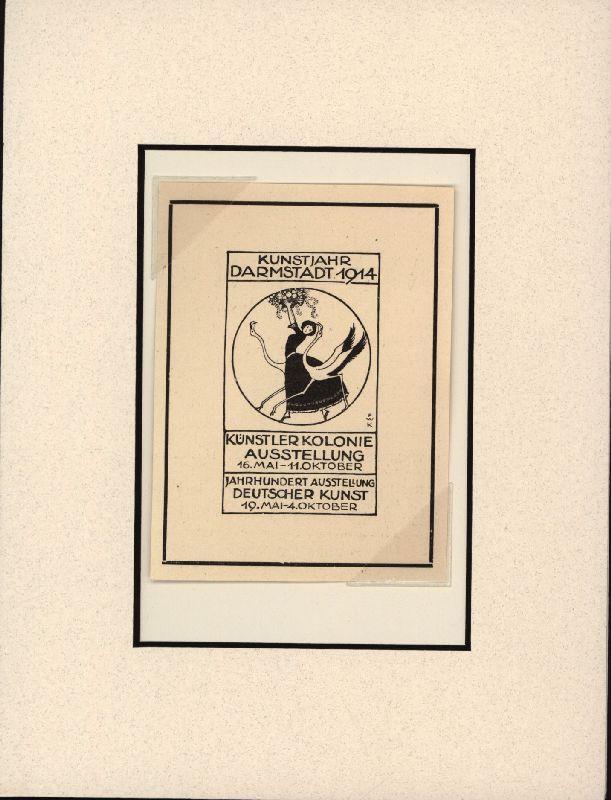 Kunstjahr Darmstadt 1914. Künstlerkolonie Ausstellung vom 16.: Ephemera. Anzeige. Ausstellung.