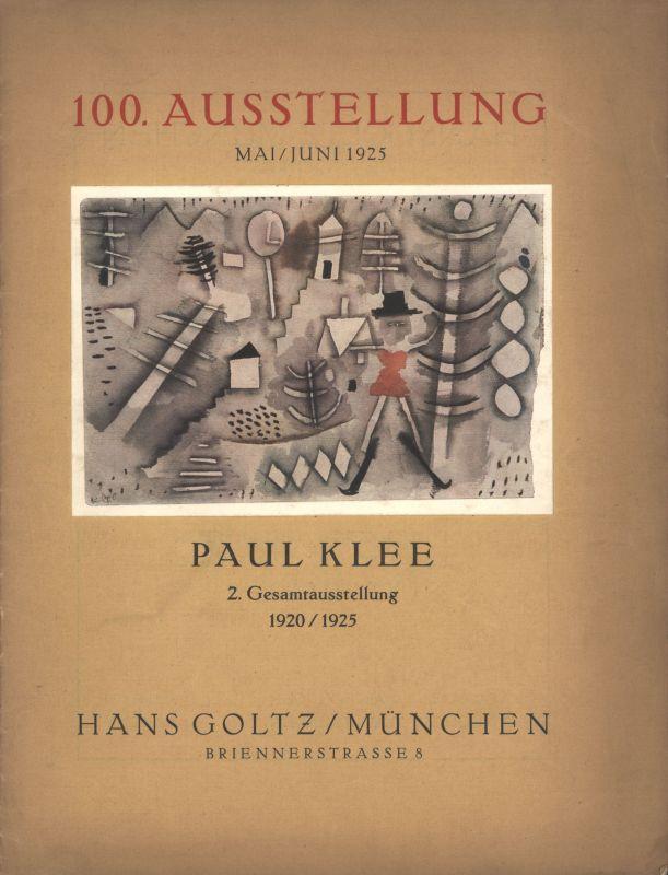 100. Ausstellung Mai / Juni 1925 PAUL: NEUE KUNST HANS