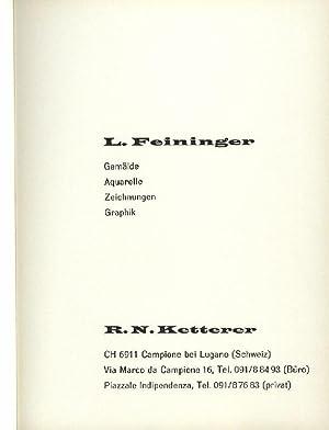 L. Feininger, Gemälde, Aquarelle, Zeichnungen, Graphik, Katalogbearbeitung: Feininger, Lyonel, Ketterer,
