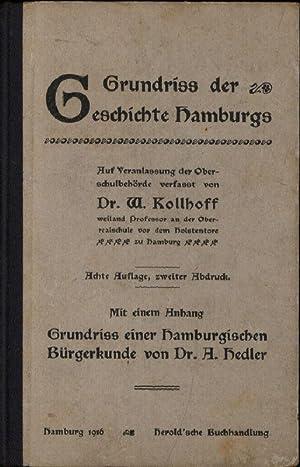 Grundriss der Geschichte Hamburgs, Auf Veranlassung der: Kollhoff, Dr. W.,