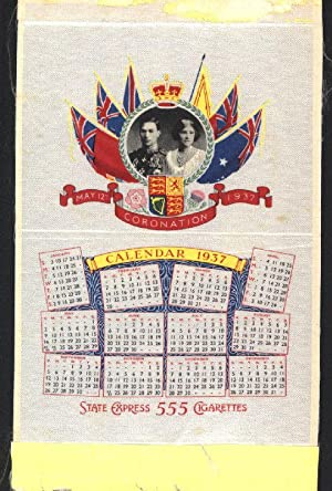 May 12th Coronation 1937 His Majesty The: State Express Cigarettes.