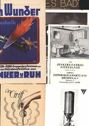 Junkers Werbemittel. Konvolut. 6 unterschiedliche Werbemittel. Prospekt. Faltblatt. Broschüre....