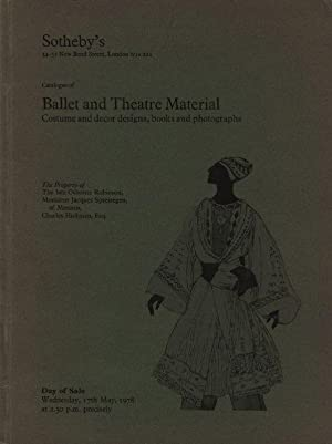 Catalogue of Ballet and Theatre Material.Costume and: SOTHEBY S Parke