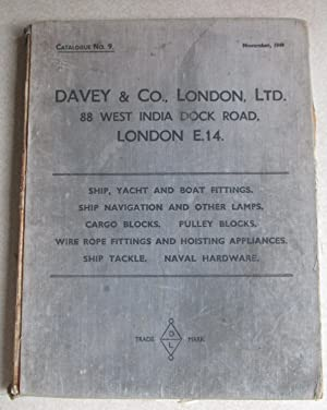 Catalogue No.9. 1949. Ship, Yacht, Boat Fittings. Navigation. Lamps. Cargo Blocks. Pulley Blocks....