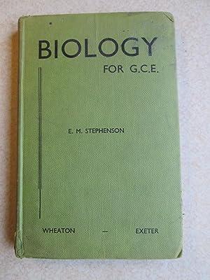 Biology For GCE: E.M. Stephenson
