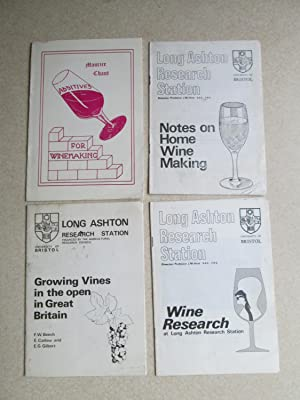 Long Ashton Research Station: Wine Research. Growing Vines in the Open in GB. Notes on Home Wine ...