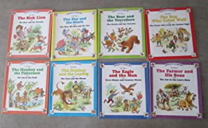 Aesop's Fables. Complete Set of 8. The Sick Lion. The Hare & the Tortoise. The Fox & ...