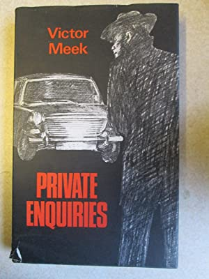 Private Enquiries. (Signed By Author)