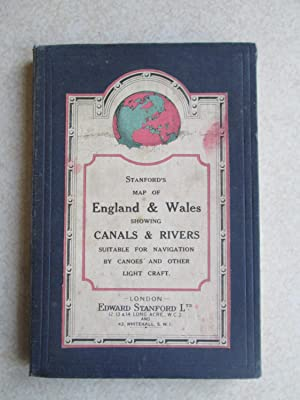 Standford's Map of England & Wales Showing Canals & Rivers Suitable for Navigation By Canoes and ...