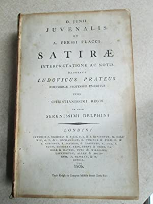 Satirae. Interpretatione AC Notis. Illustravit Ludovicus Prateus