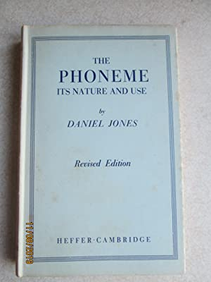 The Phoneme: Its Nature and Use: Daniel Jones