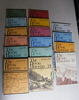 The Devon Historian. 1970-1981. Collection of 16.: Various
