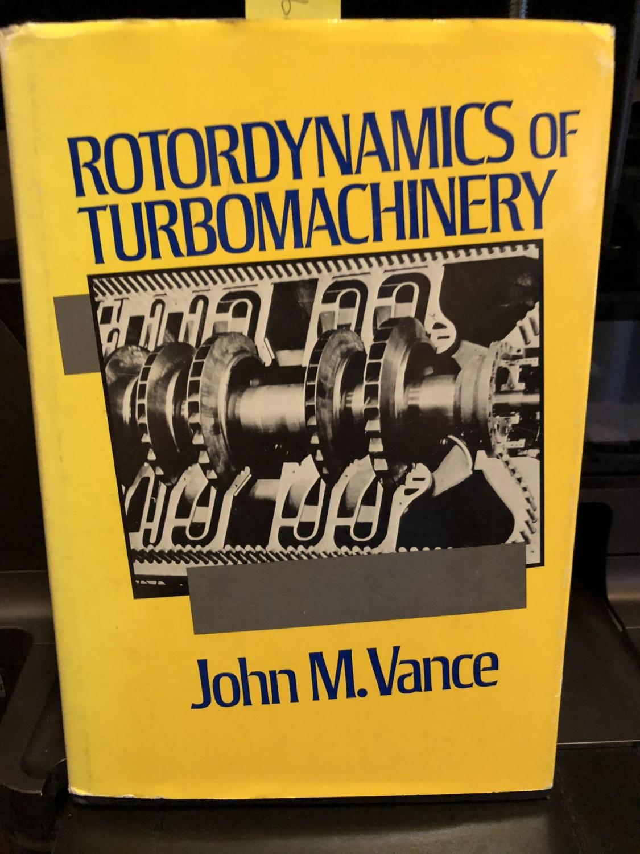 ROTORDYNAMICS OF TURBOMACHINERY VANCE PDF