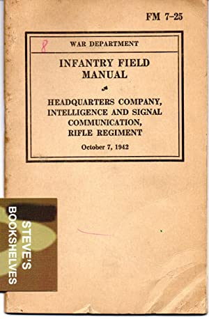 FM 7-25 Infantry Field Manual - Headquarters Company, Intelligence and Signal Communication, Rifle ...