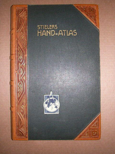 Stielers Hand-Atlas. 100 Karten in Kupferstich mit 162 Nebenkarten.: Stieler, Adolf: