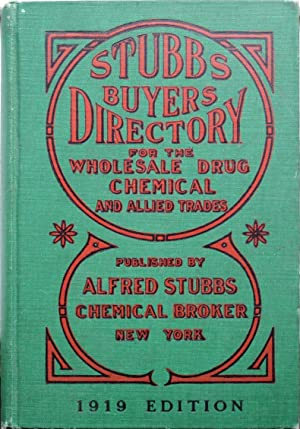 Stubbs buyers directory for the wholesale drug, chemical and allied trades.
