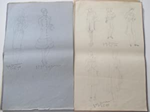 Collection of designs for woman dresses.