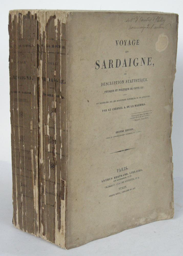 Voyage En Sardaigne Ou Description Statistique Physique MARMORA Comte Albert